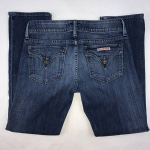 Hudson Los Angeles Flap Pocket Petite Sz 27 Dark